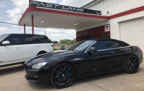 2012 BMW 6 Series for sale at FAST LANE AUTO SALES in San Antonio TX