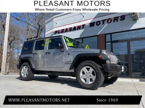 2016 Jeep Wrangler Unlimited for sale at Pleasant Motors in New Bedford MA