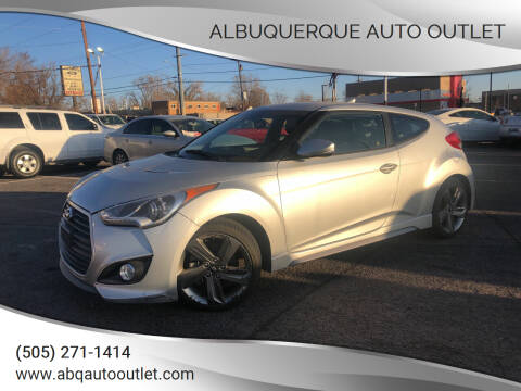 2015 Hyundai Veloster for sale at ALBUQUERQUE AUTO OUTLET in Albuquerque NM