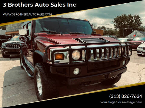 2004 HUMMER H2 for sale at 3 Brothers Auto Sales Inc in Detroit MI