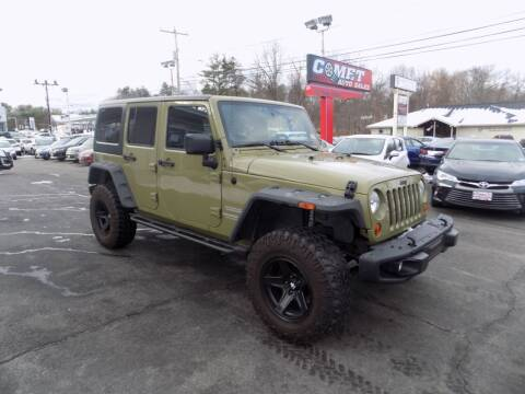 2013 Jeep Wrangler Unlimited for sale at Comet Auto Sales in Manchester NH
