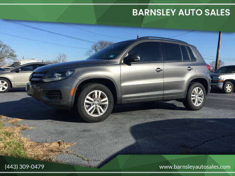 2015 Volkswagen Tiguan for sale at Barnsley Auto Sales in Oxford PA