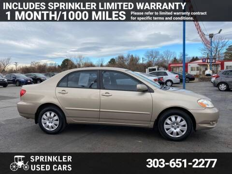 2006 Toyota Corolla for sale at Sprinkler Used Cars in Longmont CO