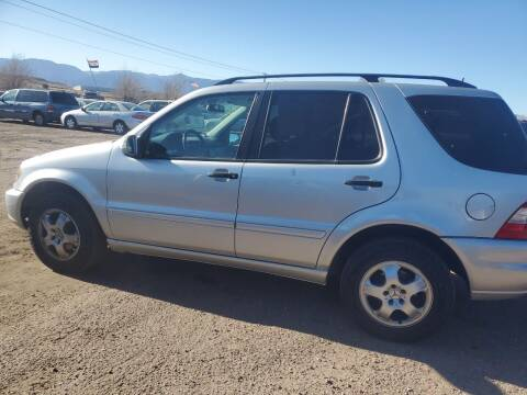 2002 Mercedes-Benz M-Class for sale at PYRAMID MOTORS - Fountain Lot in Fountain CO