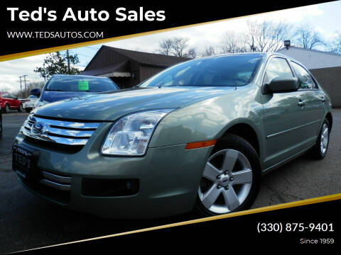 2008 Ford Fusion for sale at Ted's Auto Sales in Louisville OH