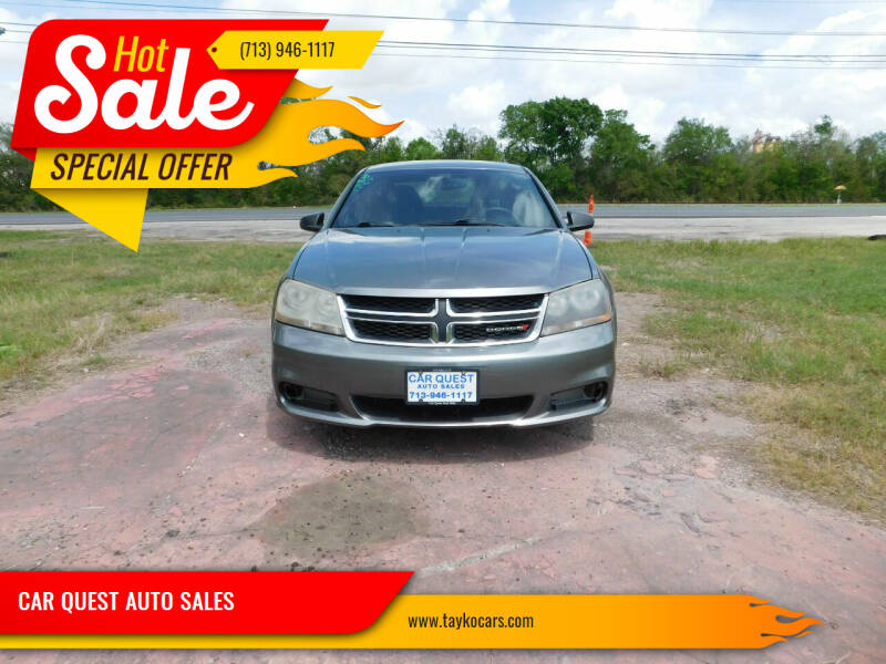 2013 Dodge Avenger for sale at CAR QUEST AUTO SALES in Houston TX