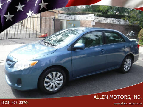 2012 Toyota Corolla for sale at Allen Motors, Inc. in Thousand Oaks CA