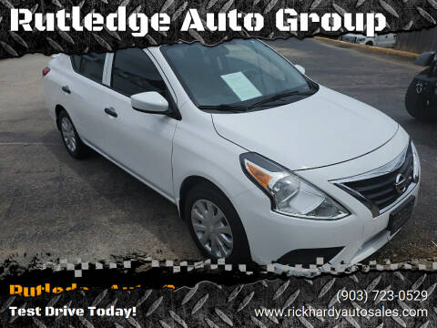 2017 Nissan Versa for sale at Rutledge Auto Group in Palestine TX