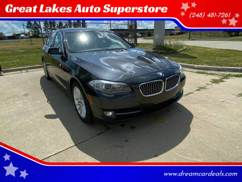 2012 BMW 5 Series for sale at Great Lakes Auto Superstore in Waterford Township MI