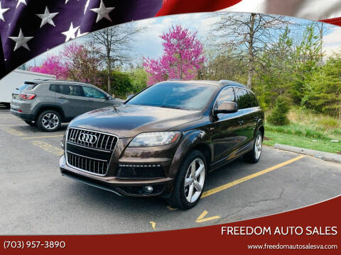 2013 Audi Q7 for sale at Freedom Auto Sales in Chantilly VA
