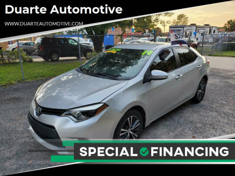 2014 Toyota Corolla for sale at Duarte Automotive in Jacksonville FL