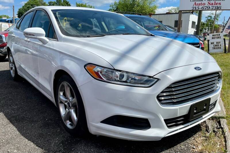 2016 Ford Fusion for sale at Mayer Motors of Pennsburg in Pennsburg PA