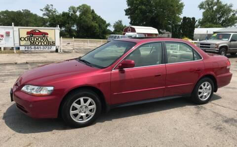 2002 Honda Accord for sale at Cordova Motors in Lawrence KS