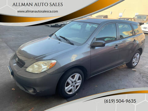 2006 Toyota Matrix for sale at ALLMAN AUTO SALES in San Diego CA