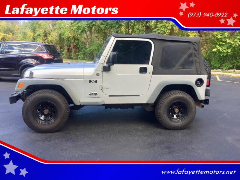 2006 Jeep Wrangler for sale at Lafayette Motors 2 in Andover NJ