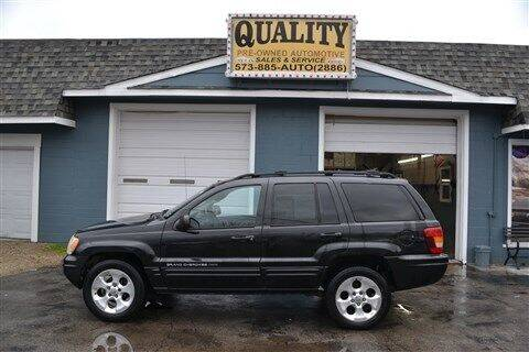2004 Jeep Grand Cherokee for sale at Quality Pre-Owned Automotive in Cuba MO