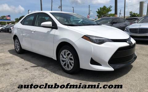 2019 Toyota Corolla for sale at AUTO CLUB OF MIAMI in Miami FL