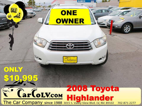 2008 Toyota Highlander for sale at The Car Company in Las Vegas NV