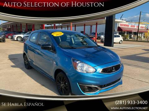 2020 Mitsubishi Mirage for sale at Auto Selection of Houston in Houston TX