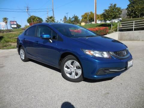 2014 Honda Civic for sale at ARAX AUTO SALES in Tujunga CA