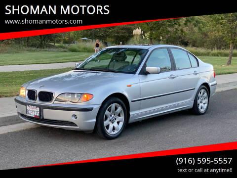 2004 BMW 3 Series for sale at SHOMAN MOTORS in Davis CA