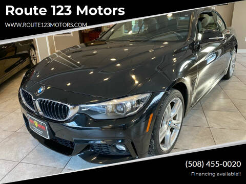 2018 BMW 4 Series for sale at Route 123 Motors in Norton MA