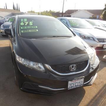 2013 Honda Civic for sale at Luxor Motors Inc in Pacoima CA