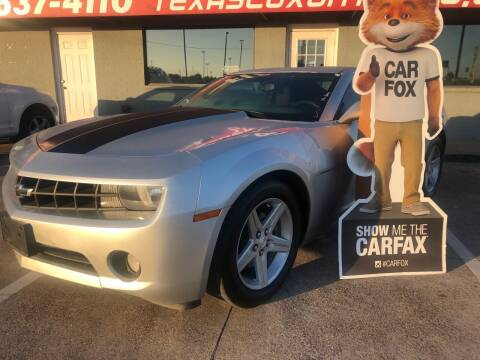 2012 Chevrolet Camaro for sale at Texas Luxury Auto in Cedar Hill TX