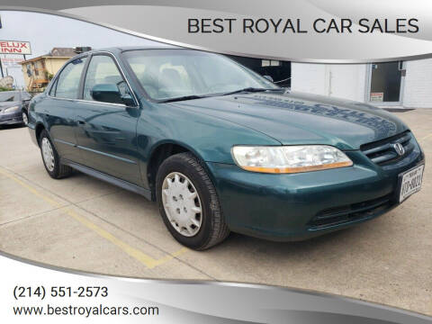 2002 Honda Accord for sale at Best Royal Car Sales in Dallas TX