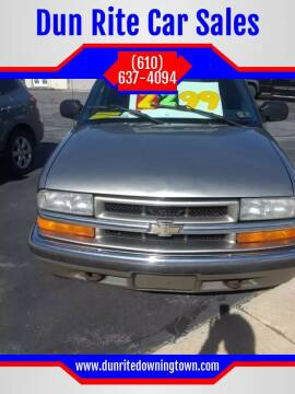 2000 Chevrolet Blazer for sale at Dun Rite Car Sales in Downingtown PA