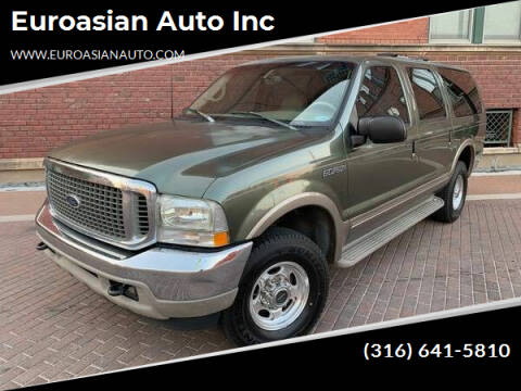 2000 Ford Excursion for sale at Euroasian Auto Inc in Wichita KS