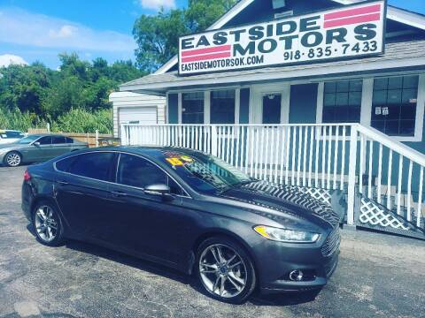 2015 Ford Fusion for sale at EASTSIDE MOTORS in Tulsa OK