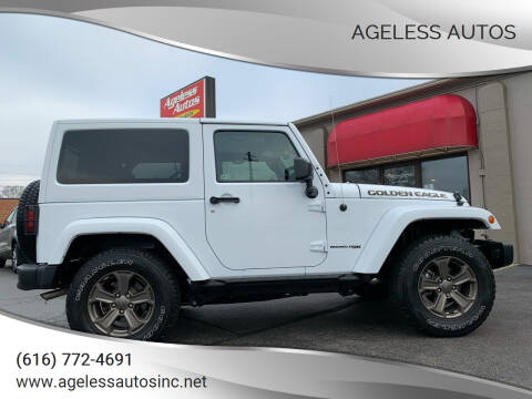 2018 Jeep Wrangler JK for sale at Ageless Autos in Zeeland MI