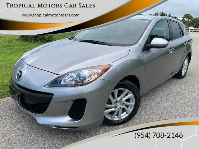 2012 Mazda MAZDA3 for sale at Tropical Motors Car Sales in Deerfield Beach FL