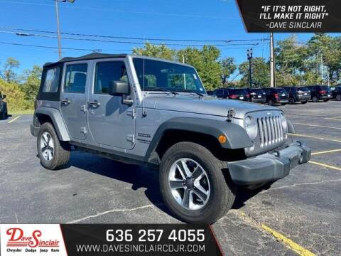 2017 Jeep Wrangler Unlimited for sale at Dave Sinclair Chrysler Dodge Jeep Ram in Pacific MO