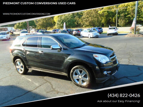 2013 Chevrolet Equinox for sale at PIEDMONT CUSTOM CONVERSIONS USED CARS in Danville VA