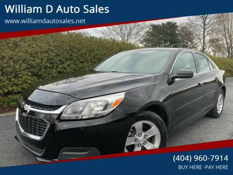 2015 Chevrolet Malibu for sale at William D Auto Sales in Norcross GA