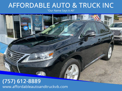 2013 Lexus RX 350 for sale at AFFORDABLE AUTO & TRUCK INC in Virginia Beach VA