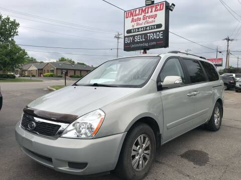 2012 Kia Sedona for sale at Unlimited Auto Group in West Chester OH