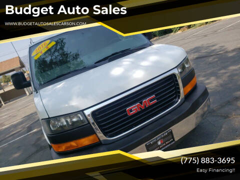 2016 GMC Savana Cargo for sale at Budget Auto Sales in Carson City NV