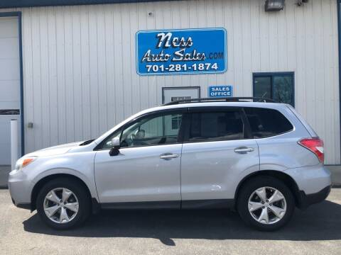 2014 Subaru Forester for sale at NESS AUTO SALES in West Fargo ND