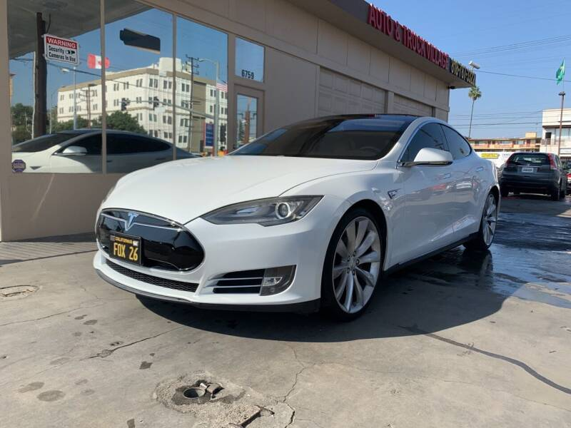 2013 Tesla Model S for sale at Auto & Truck Village Inc. in Van Nuys CA