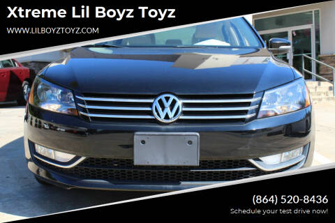 2014 Volkswagen Passat for sale at Xtreme Lil Boyz Toyz in Greenville SC