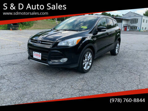 2013 Ford Escape for sale at S & D Auto Sales in Maynard MA