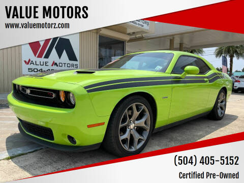 2015 Dodge Challenger for sale at VALUE MOTORS in Kenner LA