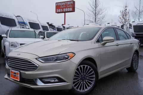 2018 Ford Fusion for sale at Frontier Auto & RV Sales in Anchorage AK