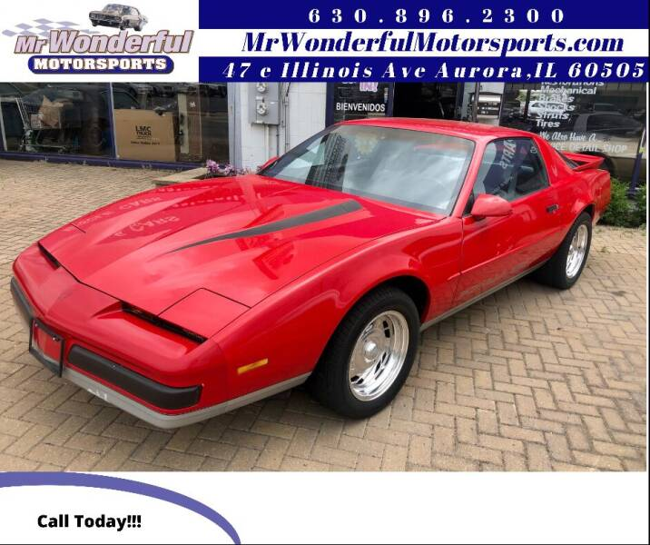 1988 Pontiac Firebird for sale at Mr Wonderful Motorsports in Aurora IL