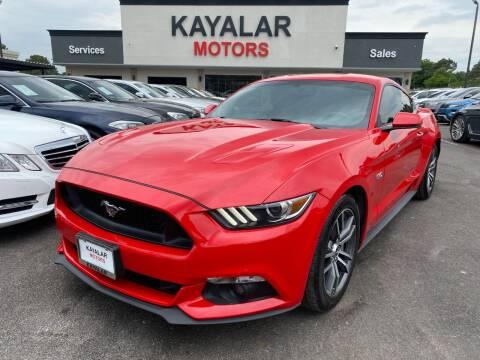 2017 Ford Mustang for sale at KAYALAR MOTORS in Houston TX