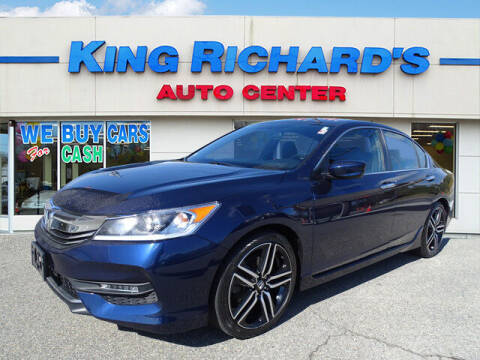 2016 Honda Accord for sale at KING RICHARDS AUTO CENTER in East Providence RI