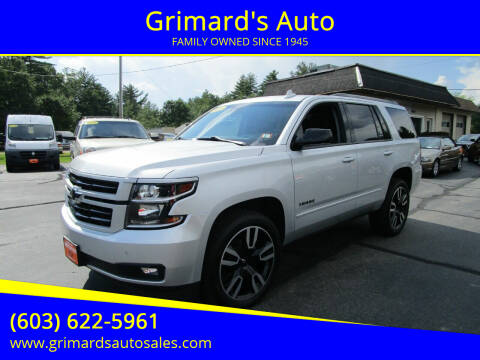2019 Chevrolet Tahoe for sale at Grimard's Auto in Hooksett NH